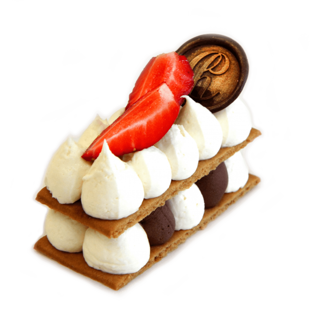 naked cake piece